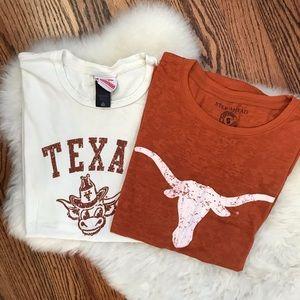 LOT OF 2 Texas Tees 🐂